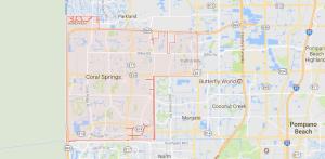Coral Springs, FL Map